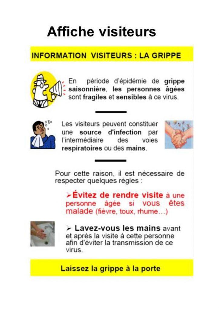 affiche grippe Visiteurs