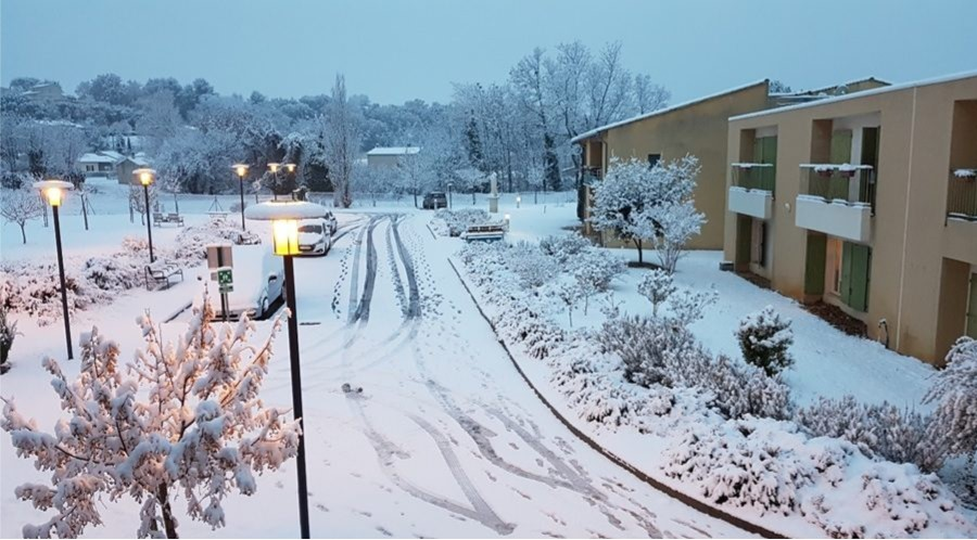 EHPAD sous la neige